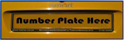 AFrame number plate holder by TOWtal