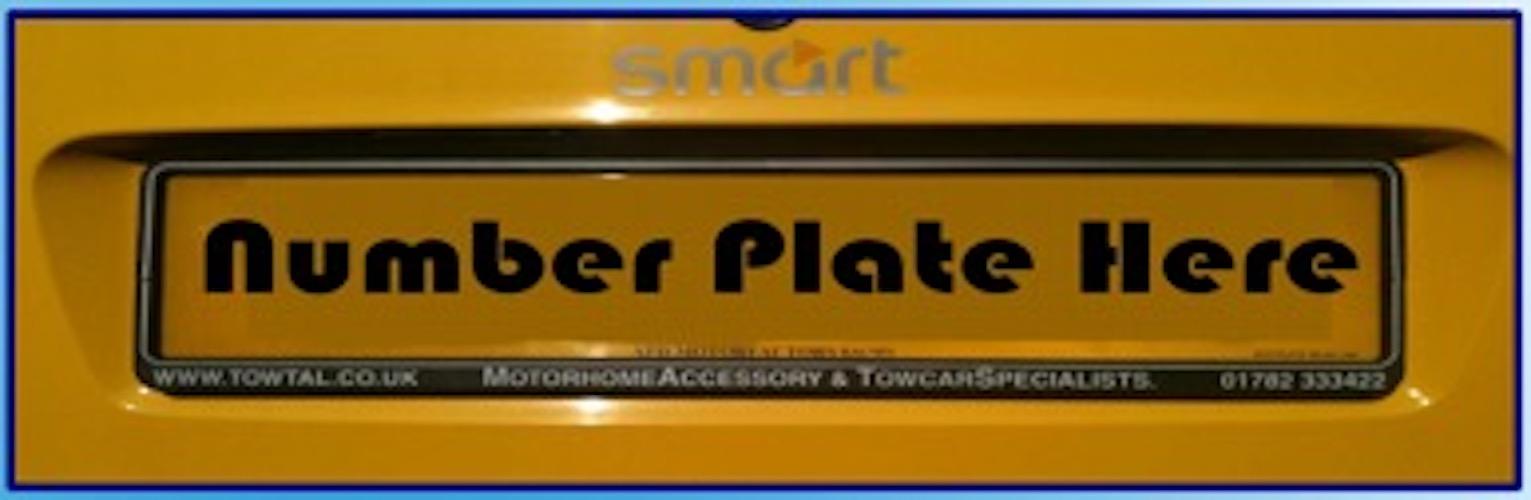 Number Plate Holder  sc 1 st  TOWTal & Number Plate Holder u2013 TOWTal u2013 Motorhome Towbar u0026 A Frame Specialist
